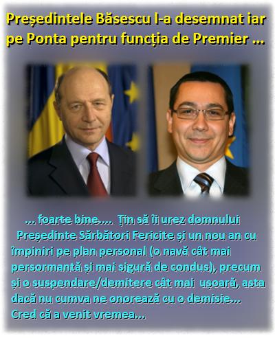 Băsescu, Ponta