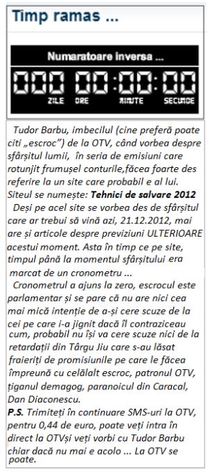 Tudor Barbu, OTV