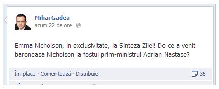 Mihai Gadea - Facebook