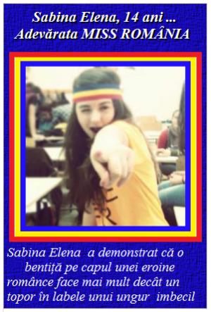 Sabina Elena, fata din Covasna
