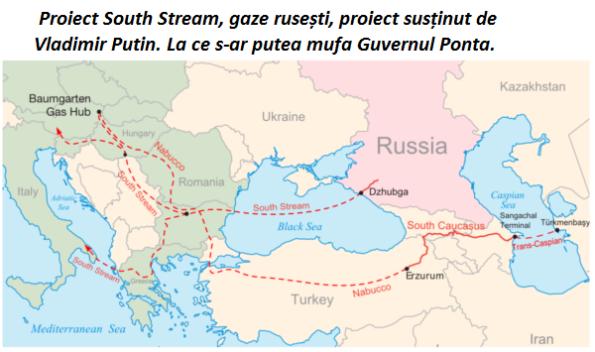 Proiect South Stream, gaze rusești, proiect susținut de Vladimir Putin. La ce s-ar putea mufa Guvernul Ponta.