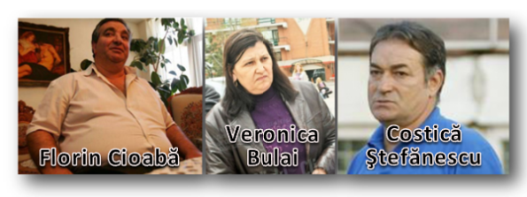 Florin Cioabă, Veronica Bulai, Costică Ștefănescu