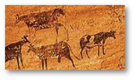 Picturile rupestre din pestera Coliboaia din Bihor