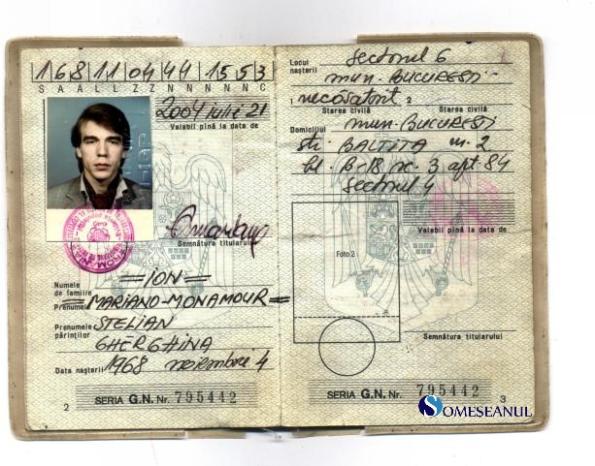 Buletin de identitate - ION Mariano-Monamour