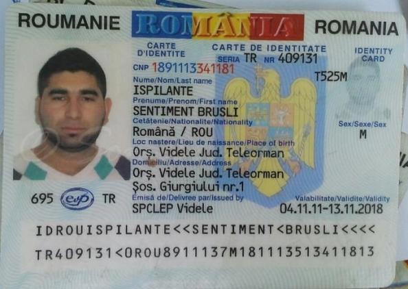 Buletin de identitate - IPSILANTE Sentiment-Brusli