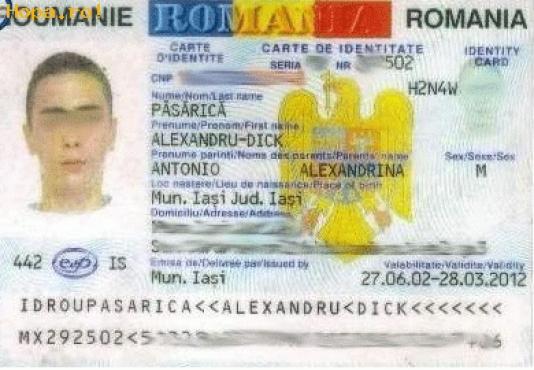 Buletin de identitate - PĂSĂRICĂ Alexandru-Dick