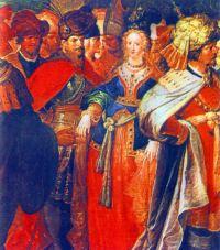 Mihai Viteazul şi domniţa Florica. Pictură din1601