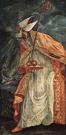 Sfântul Nicolae, pictură de Tintoretto (1518-1594), Kunsthistorisches Museum, Viena