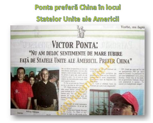 1. Ponta preferă China