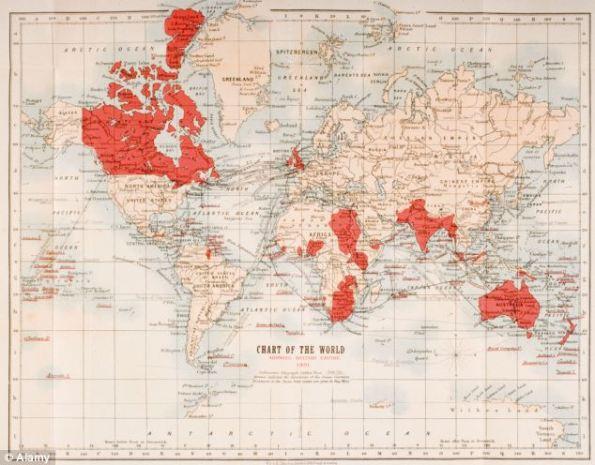 """O hartă care arată că 90% din ţările lumii s-au """"bucurat"""" de o invazie britanică"""