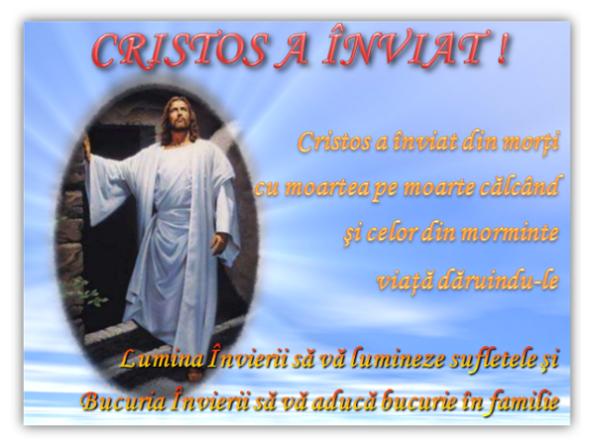Cristos a înviat !