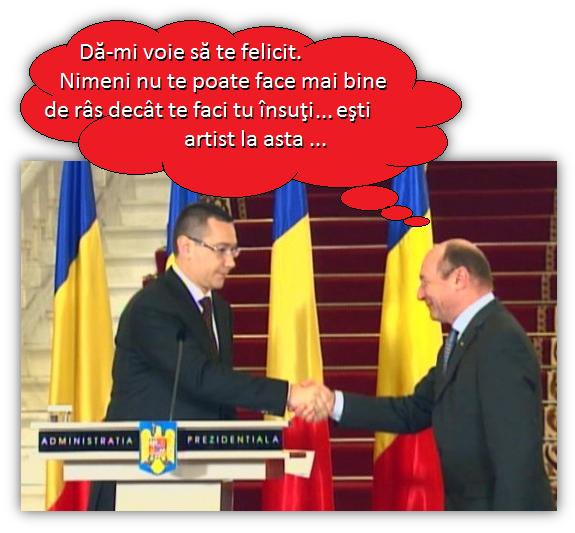 Ponta, Băsescu