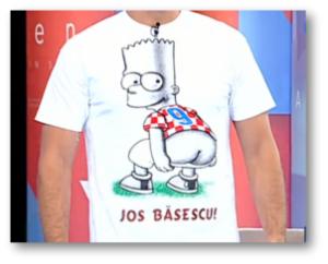 Tricoul în care Badea atată unde o vrea de la Băsescu,gaura orală fiind rezervată lui Voiculescu