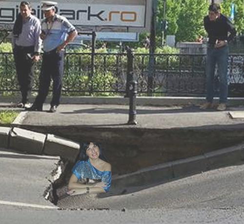 A fost găsită vie şi nevătămată Elodia Ghinescu în groapa apărută pe Splaiul Independenţei.