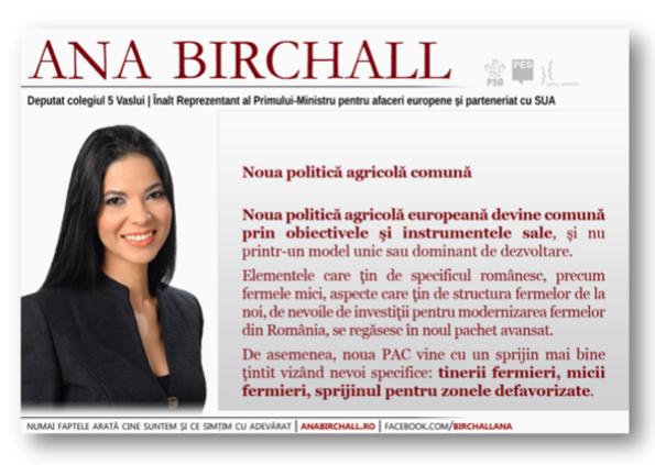 Ana Birchall ...  declarație