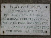 Placa memorială de pe Biserica Bob din Cluj
