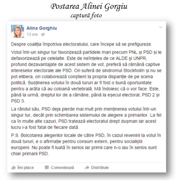 Alina Gorghiu - Postare