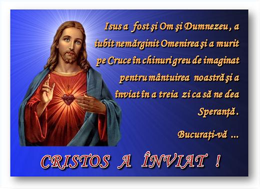 CRISTOS A ÎNVIAT !!!