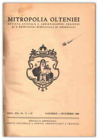 Revista oficiala a Arhiepiscopiei Craiovei-noiembrie Decembrie1969