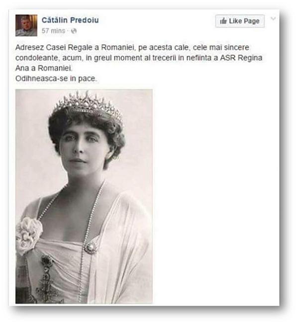 Regina Maria, Cătălin Predoiu
