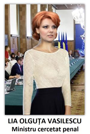 Lia Olguța Vasilescu, ministru cercetat penal