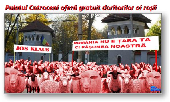 Oile roșii au invadat Palatul Cotroceni