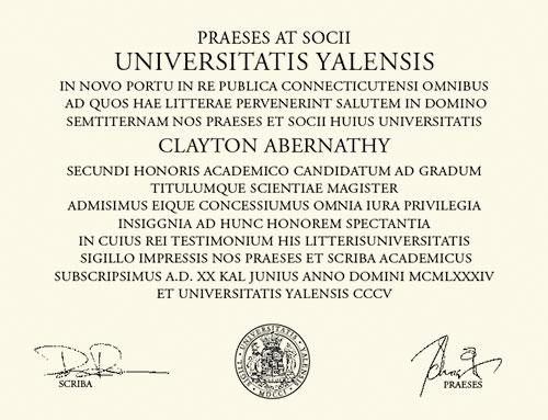 Diplomă amisă de Yale Law School (2)