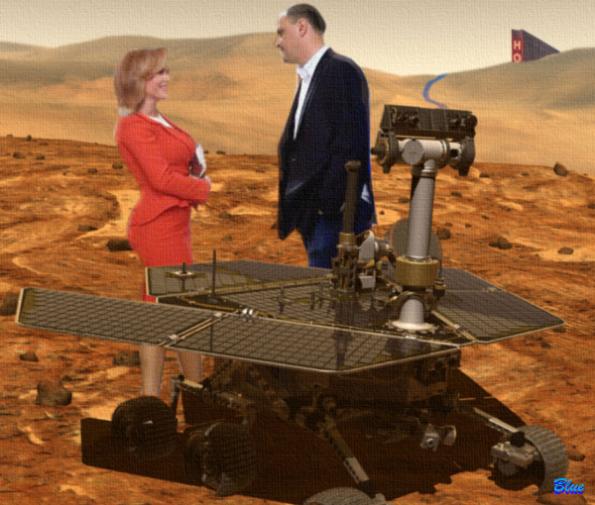 Gabi Firea și Sebi Ghiță în vizită la roverul Coriosity